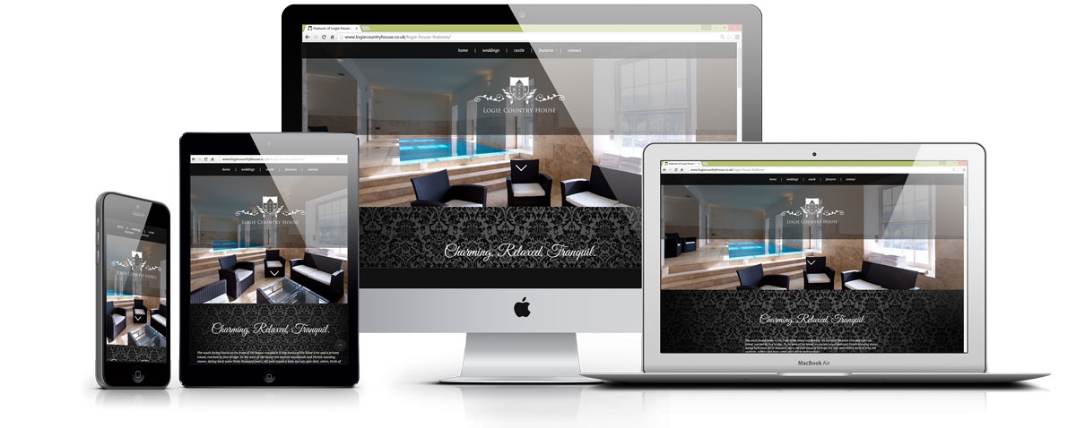 logie country house website design inverurie