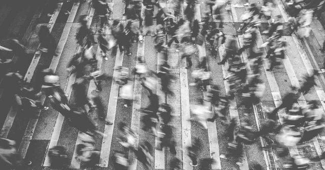 customers people crossing