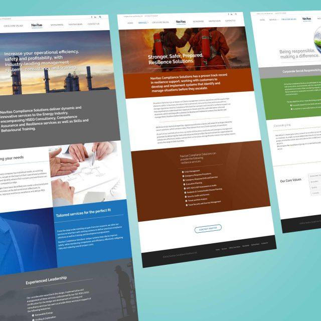 navitas compliance web design project