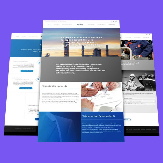 navitas compliance web design layout
