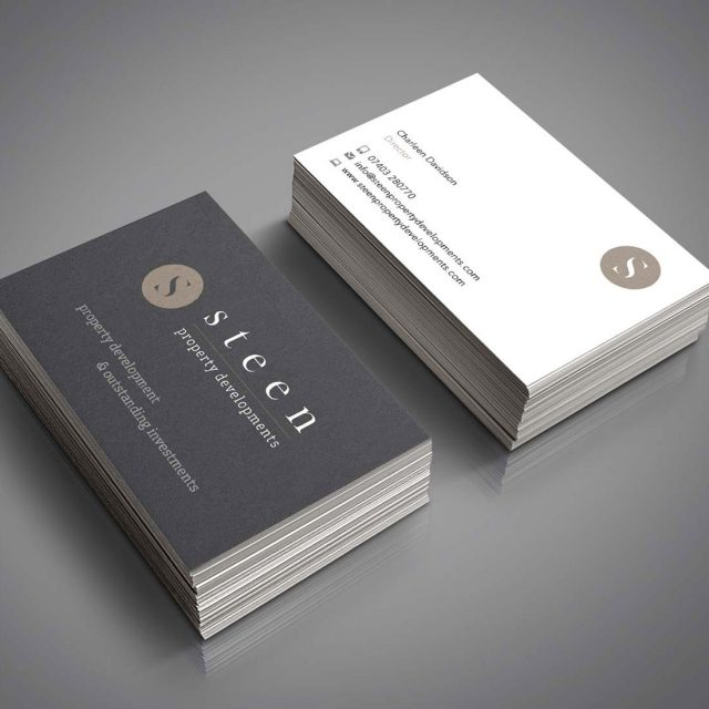 steen property developments business cards